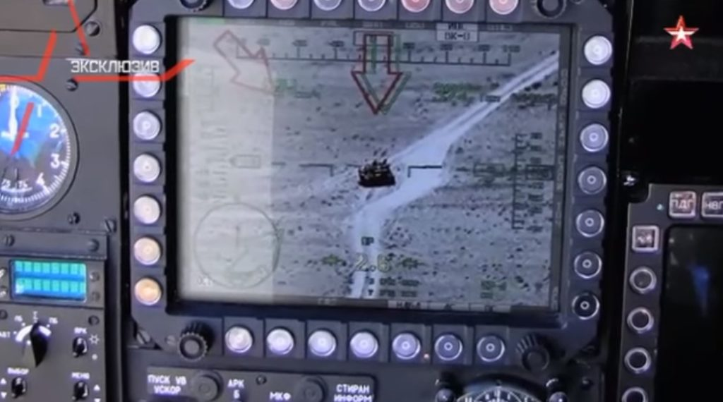 Cockpit Video: Russian Mi-28N Attack Helicopter Destroys ISIS Tank in Syria