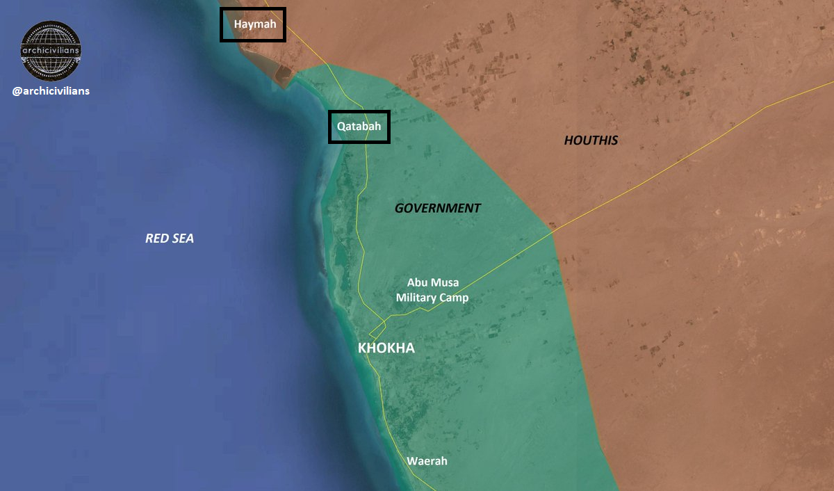 led Coalition Develops Its Advance Towards Yemens alHudaydah Port