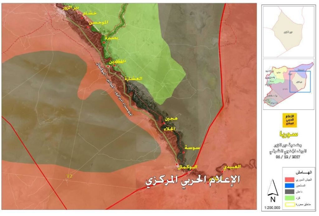 Syrian Democratic Forces Struggle To Clear Eastern Bank Of Euphrates From ISIS (Map)
