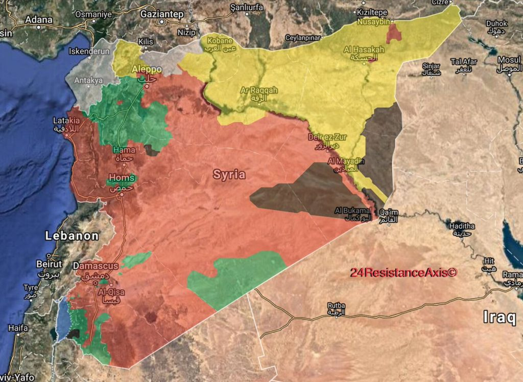Map Update: General Look At Military Situation In Syria