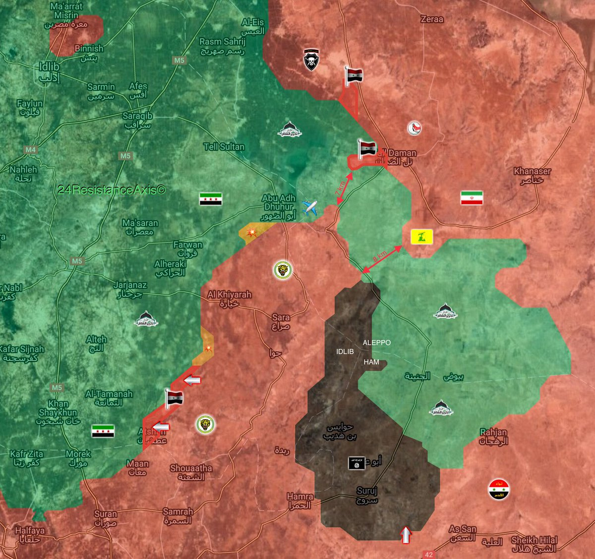Government Forces Recapture 8 Villages From Militants In Abu al-Duhur Area (Map)