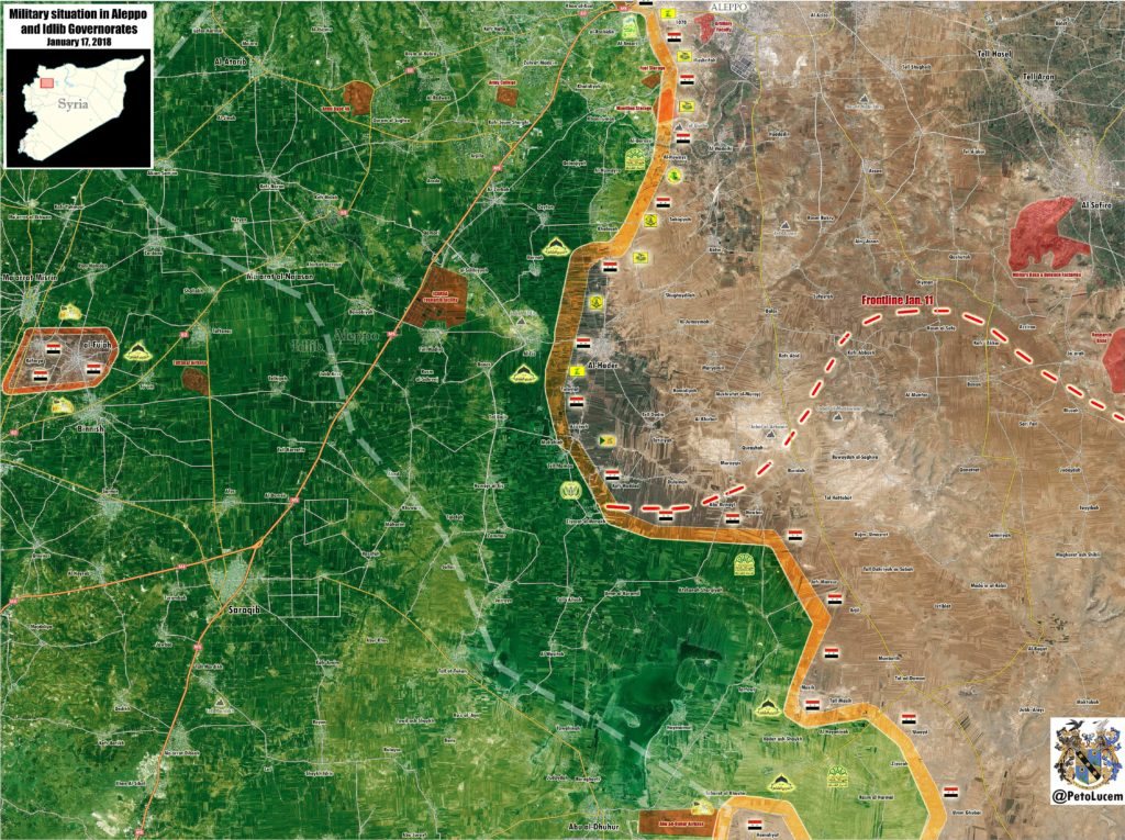 Syrian Troops Pressure Militants In Southern Aleppo In Attempt To Close Eastern Idlib Pocket (Map)