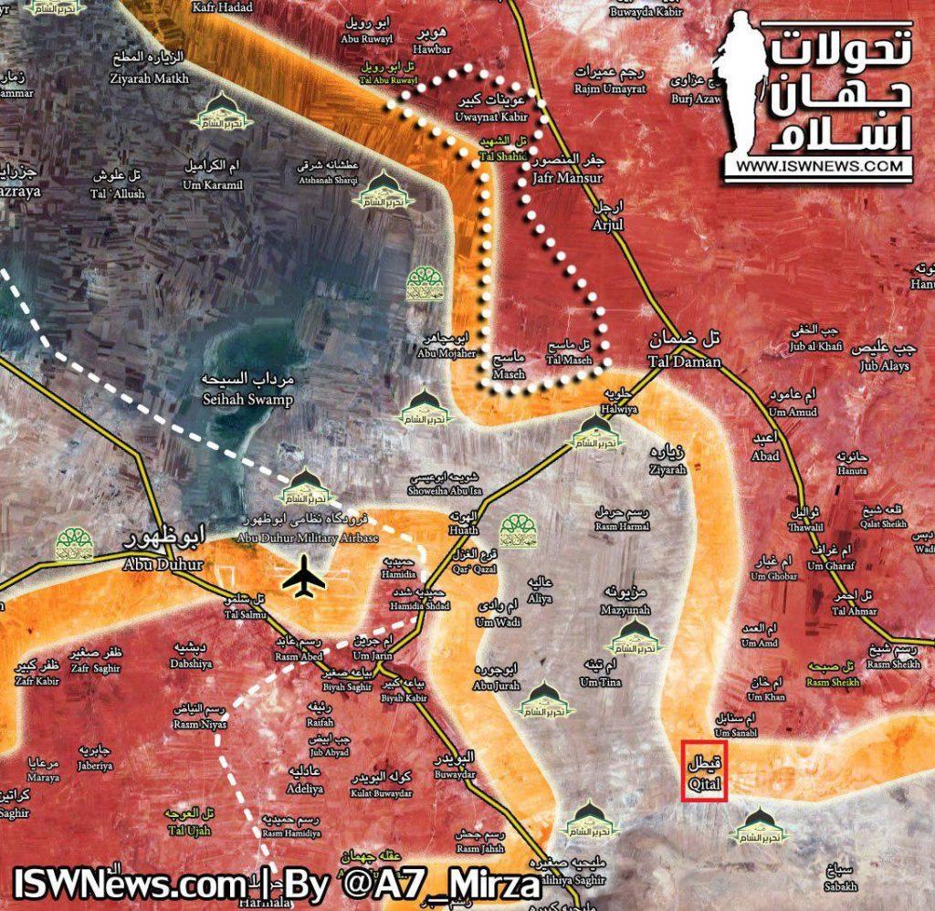 Syrian Army Tightens Siege On Abu al-Duhur Airbase, Militants In Northeastern Hama