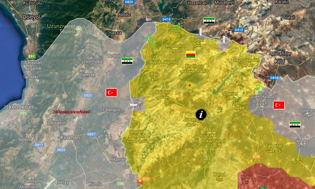 Turkish Military Carries Out Massive Artillery And Air Strikes On Kurdish Forces In Afrin (Map, Video)