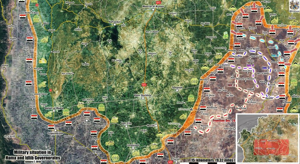 Map Update: Military Situation In Southern Idlib And Northern Hama Following Recent Advances By Syrian Army