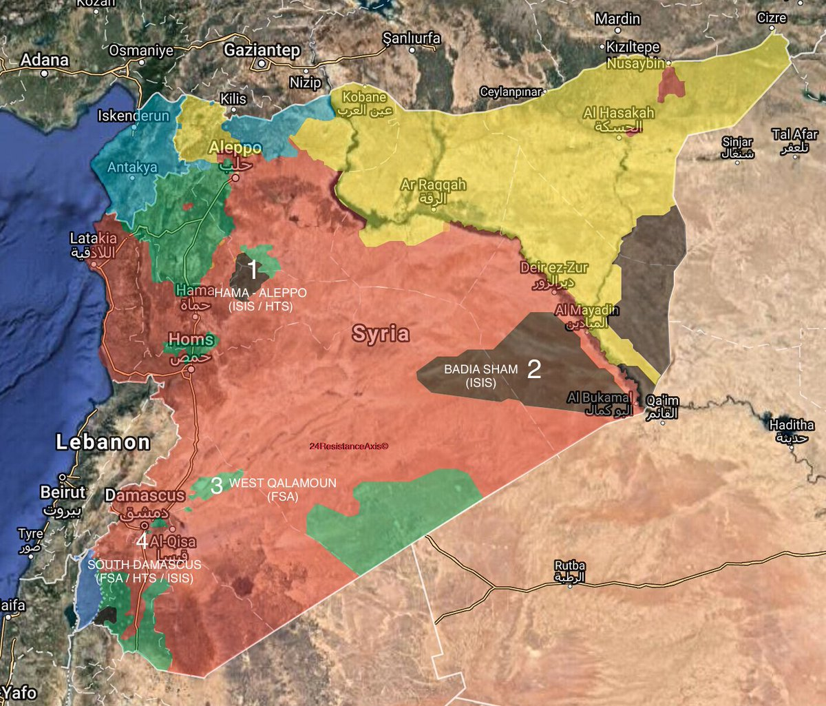 military situation in syria on january 25 2018 map update