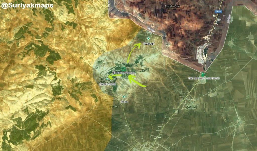 Map Update: Turkish Forces And Free Syrian Army Control Strategic Bursaya Mount East Of Afrin