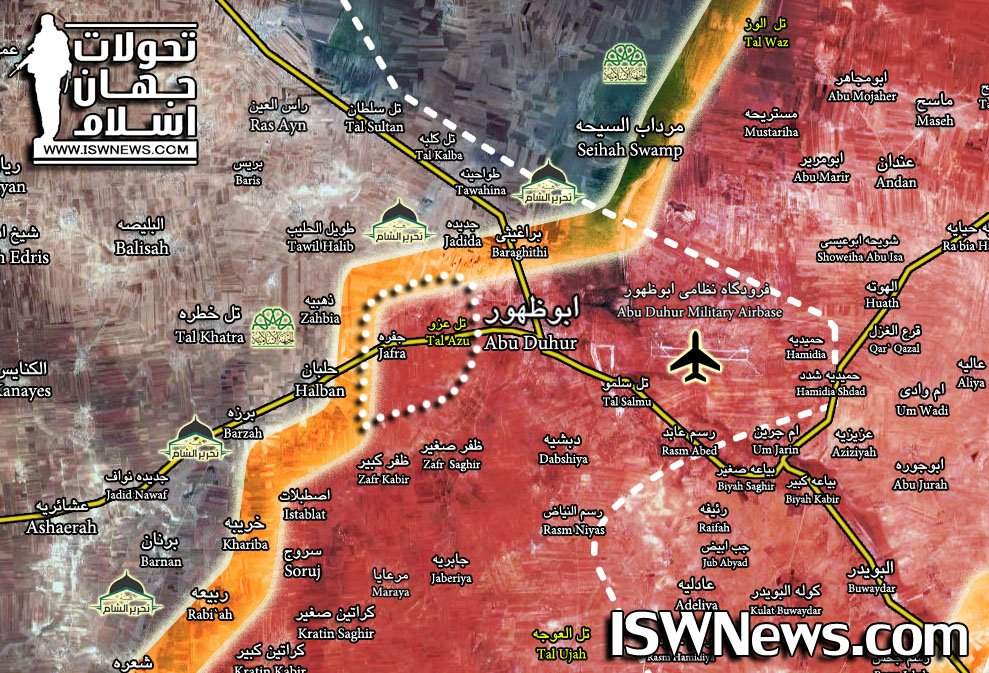Government Forces Secure Western Flank Of Abu al-Duhur (Map)