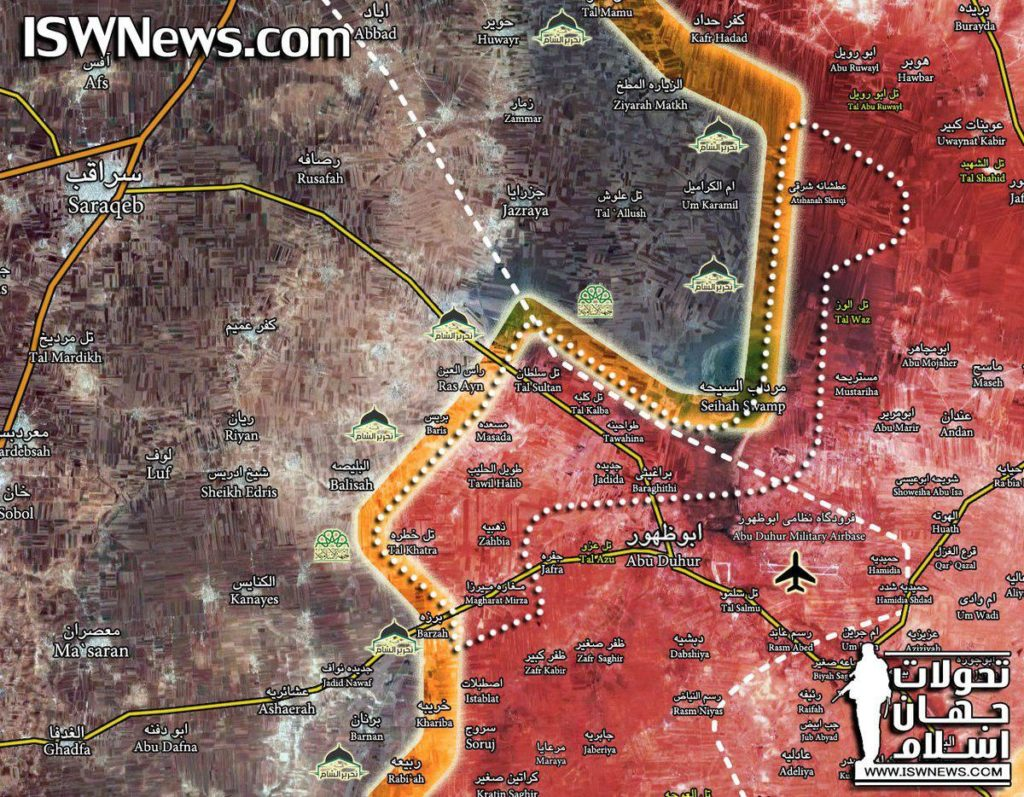 Map Update: Closer Look At Military Situation In Abu al-Duhur Countryside