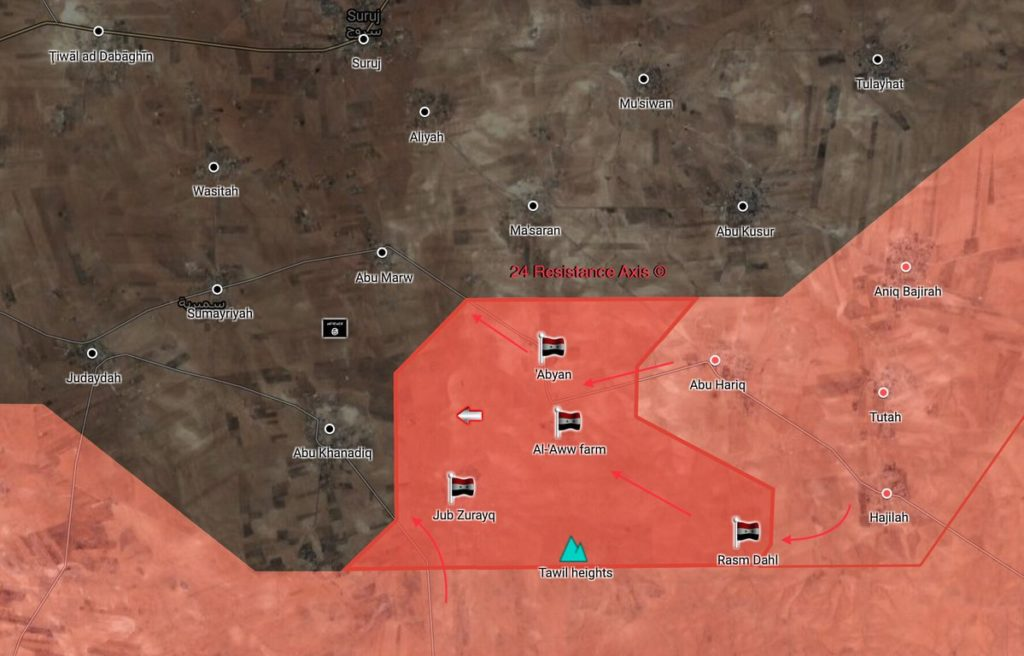 ISIS Loses More Area To Syrian Army In Northeastern Hama (Map)