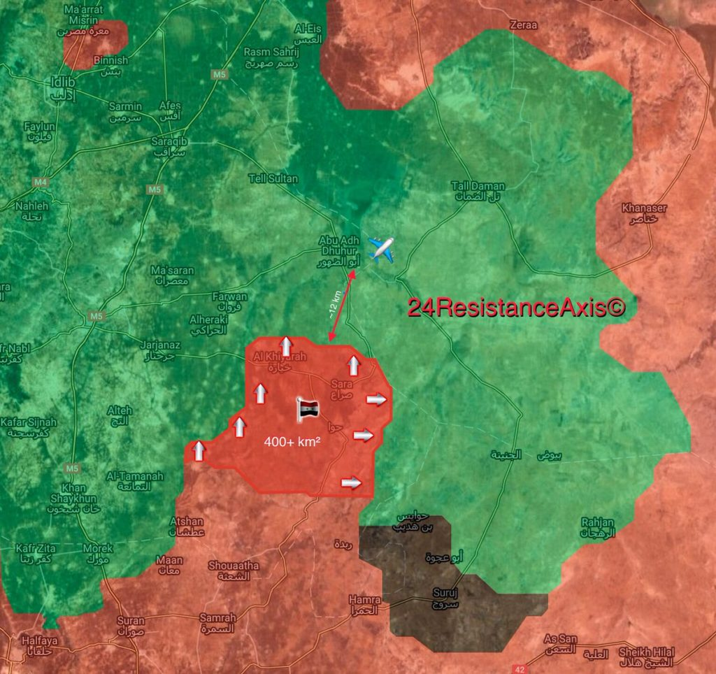 Syrian Army Liberates 400km2 From Militants In Southeastern Idlib Since Start Of 2018 (Map)
