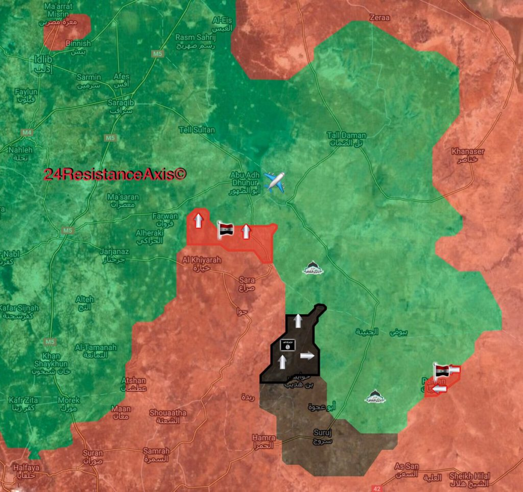 Map Update: Military Situation In Southern Idlib As Syrian Army Tighten Siege On Abu Al-Duhur Airbase