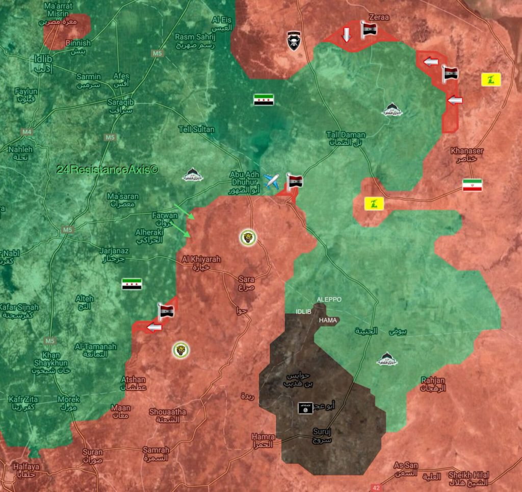 Military Situation In Abu Al-Duhur Area On January 12, 2018 (Map Update)