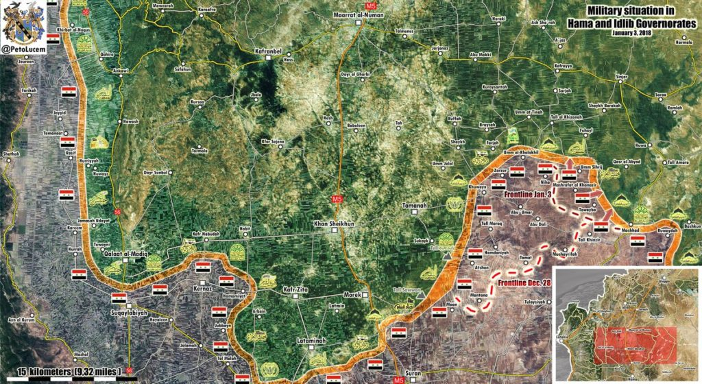 Map Update: Military Situation In Southern Idlib Following Recent Advance Of Syrian Army