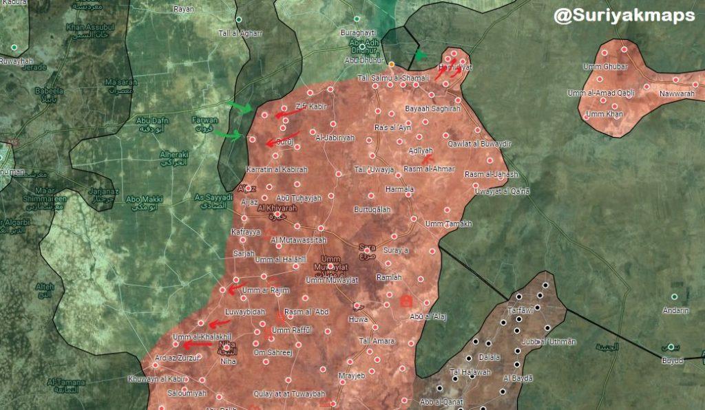 Intense Fighting Near Abu al-Duhur Airbase, Hayat Tahrir al-Sham Attacks Musharifah