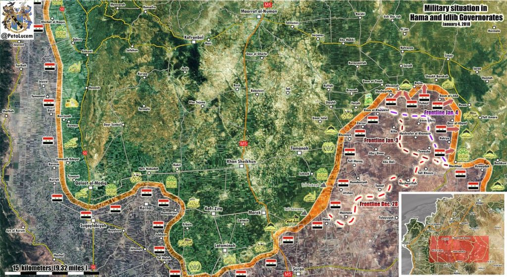 Map Update: Syrian Army Progress Against Militants In Southern Idlib