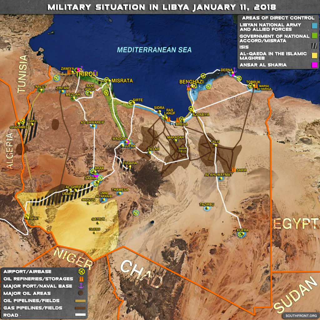 Military Situation In Libya On January 11, 2018 (Map Update)