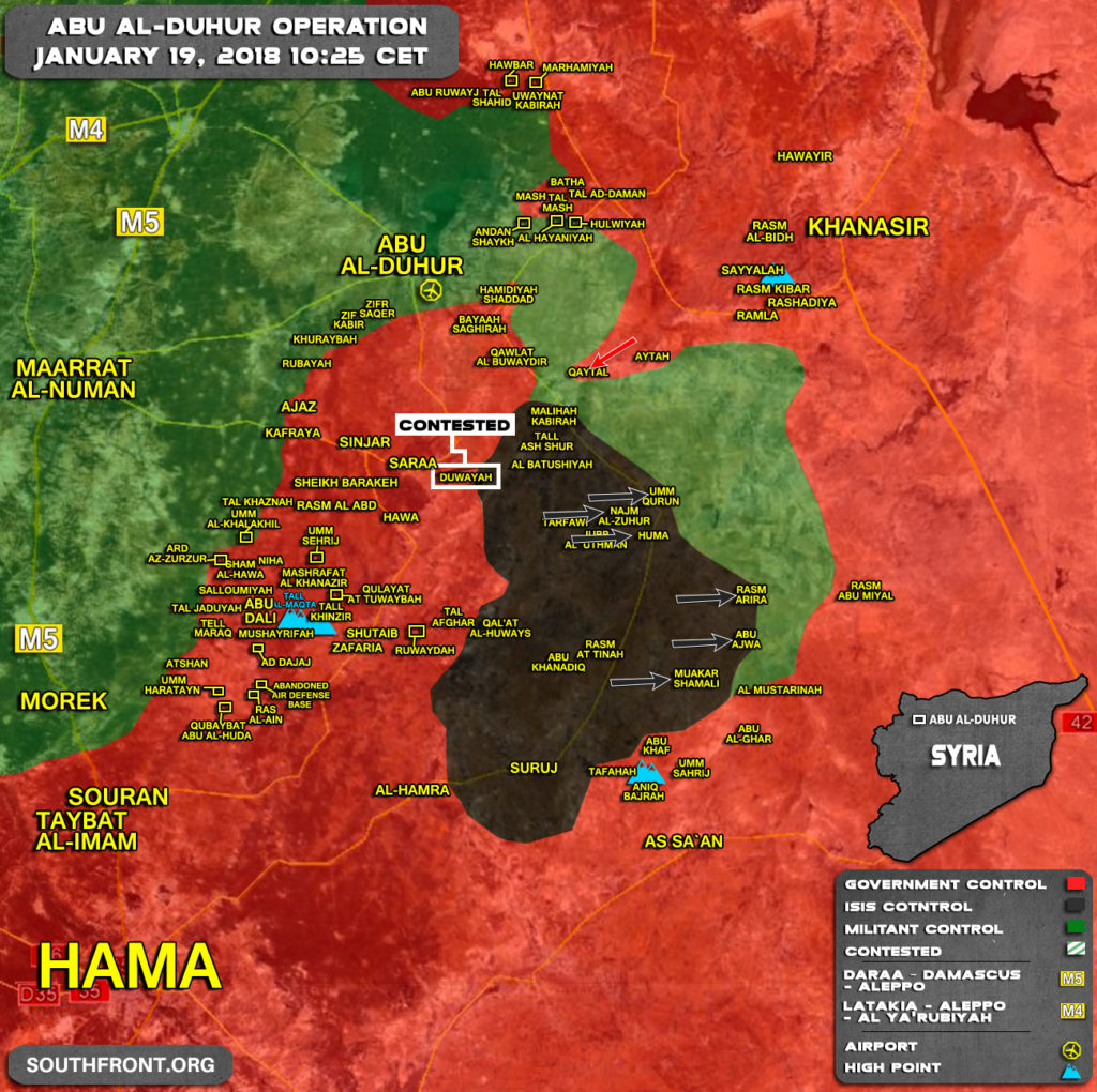 ISIS Captures Over 30 Villages From Hay'at Tahrir al-Sham In Northern Hama and Southern Aleppo (Map)