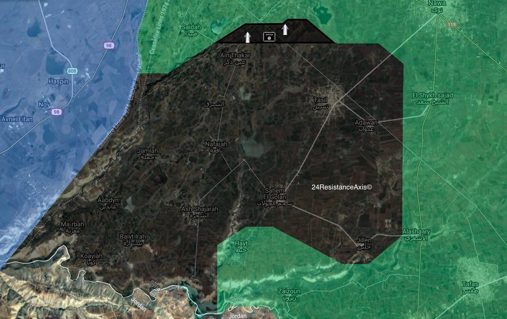 """ISIS-linked Jaysh Khalid ibn al-Waleed Captures 3 Vilalges From """"Moderate"""" Opposition Near Golan Heights"""