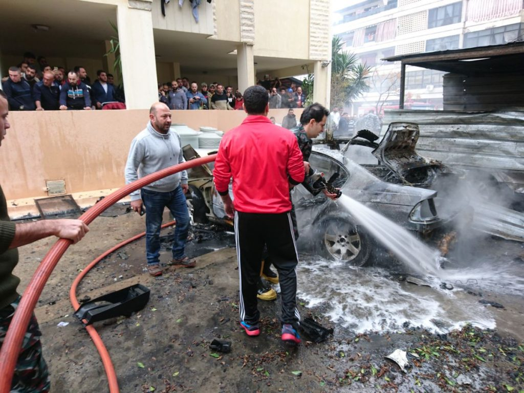 Hamas official Wounded In Car Bomb Attack In Lebanon (Photos)