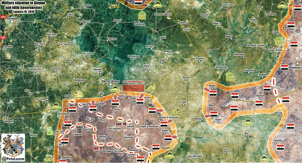 Map Update: Government Forces Advance In Abu al-Duhur Area, Militants Attacks Army In Southern Aleppo