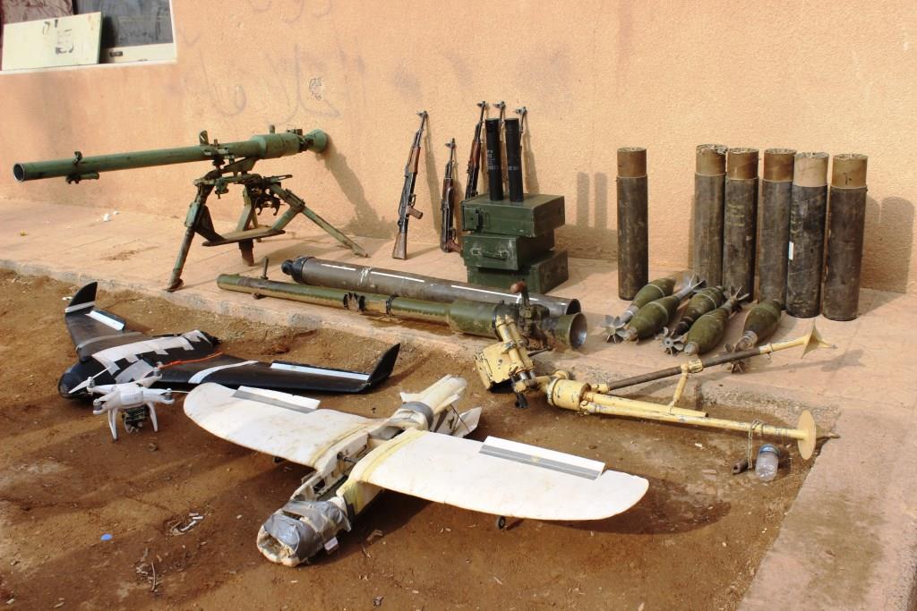 Трофеи, захваченные у поселка Аль-Бахра