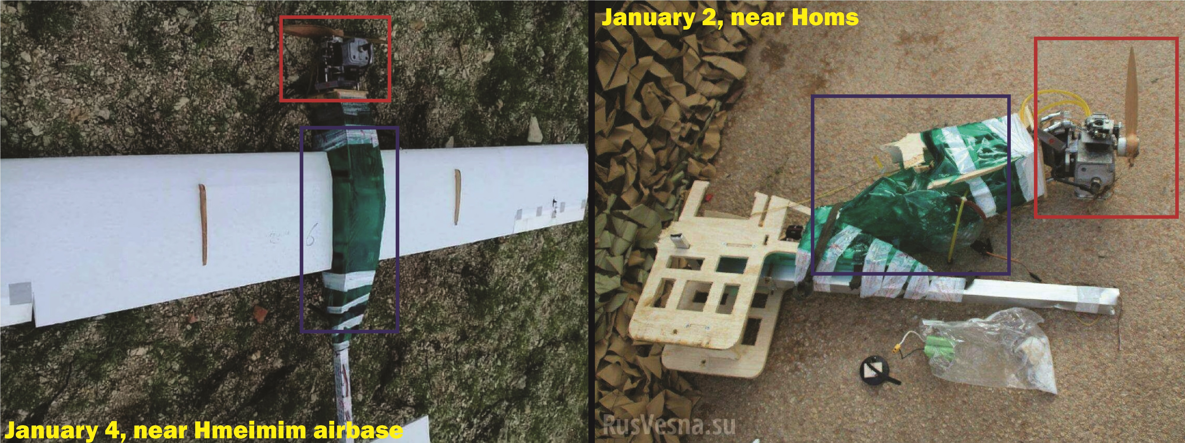 Russian Military, National Defense Forces Shoot Down Several Armed UAVs Near Hmeimim Airbase And Homs (Photos, Video)