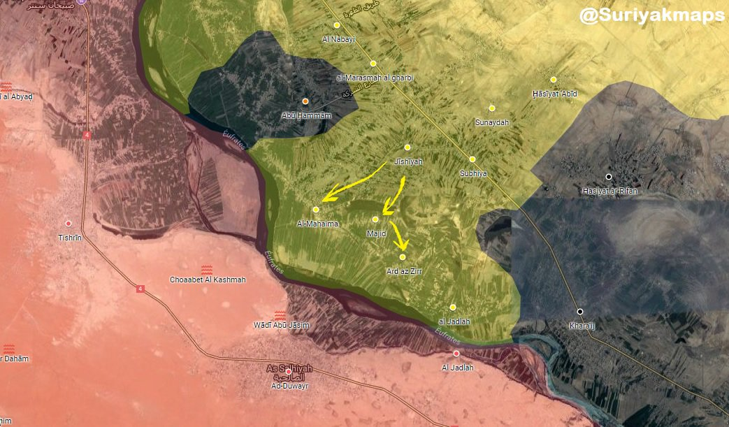 SDF Advances On ISIS Positions North Of Hajin Town (Map, Photos)