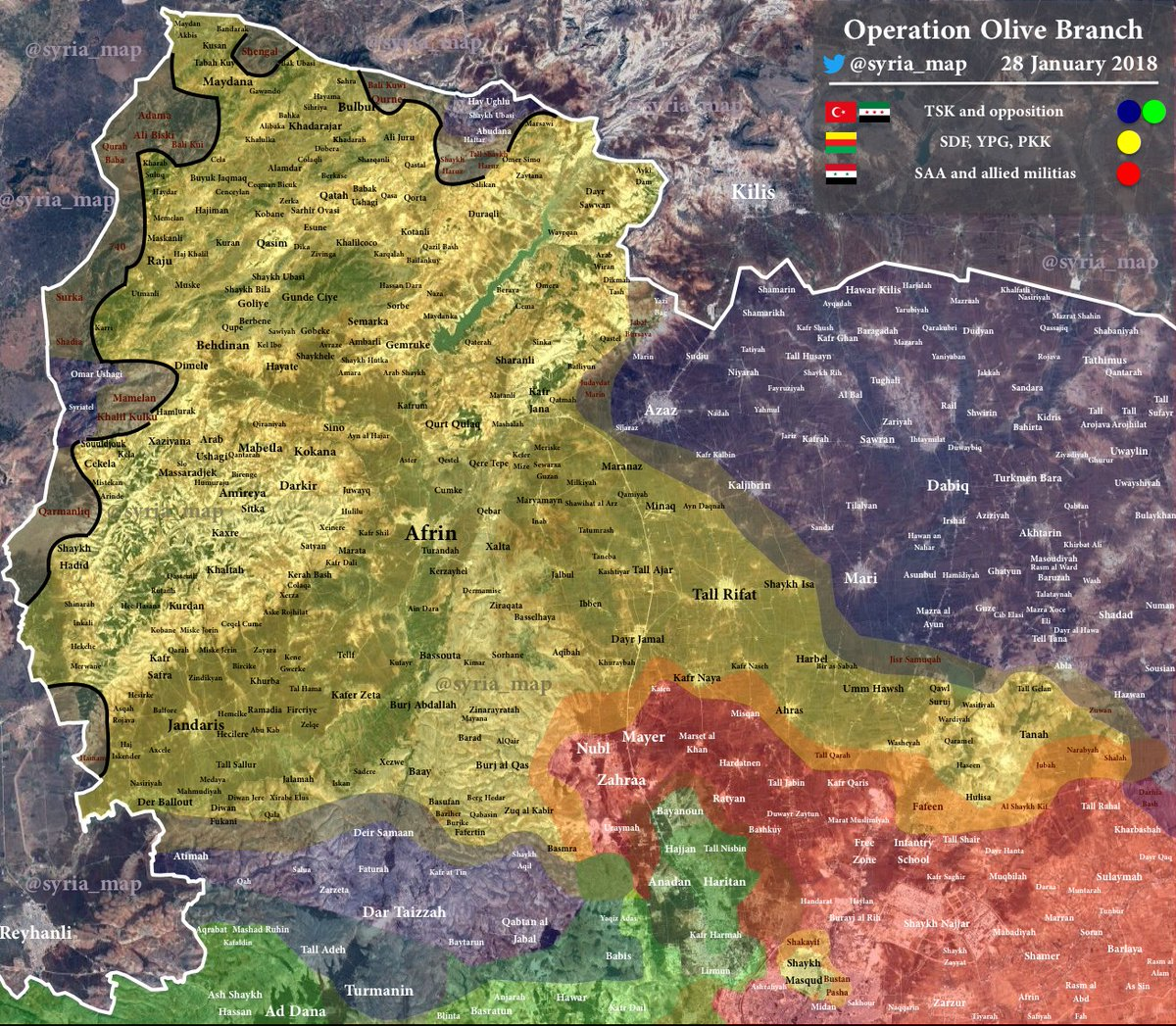 Turkish Army Captured Key Mount East Of Afrin city (Photos, Map)