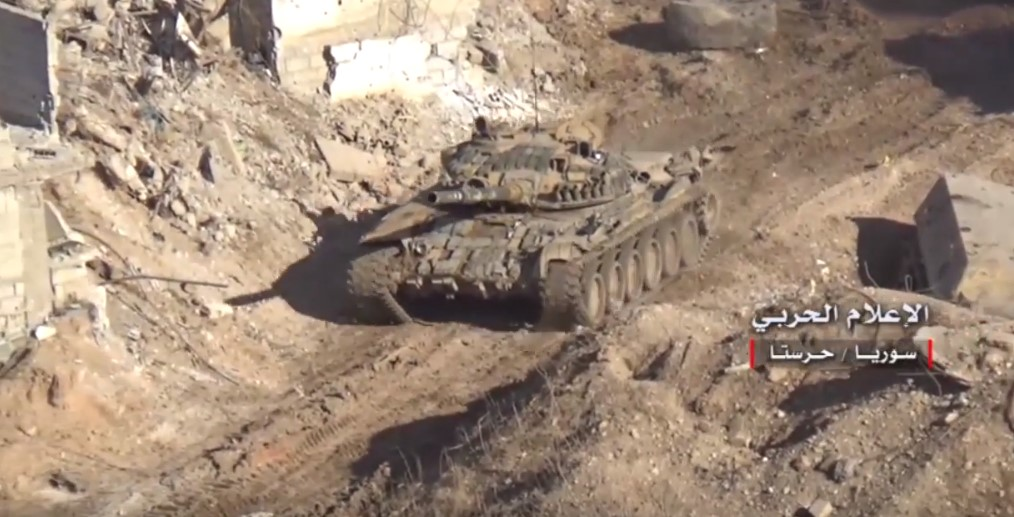 Video: Syrian Army Clashes With Ahrar Al-Sham In Vicinity Of Armoured Vehicles Base In Eastern Ghouta