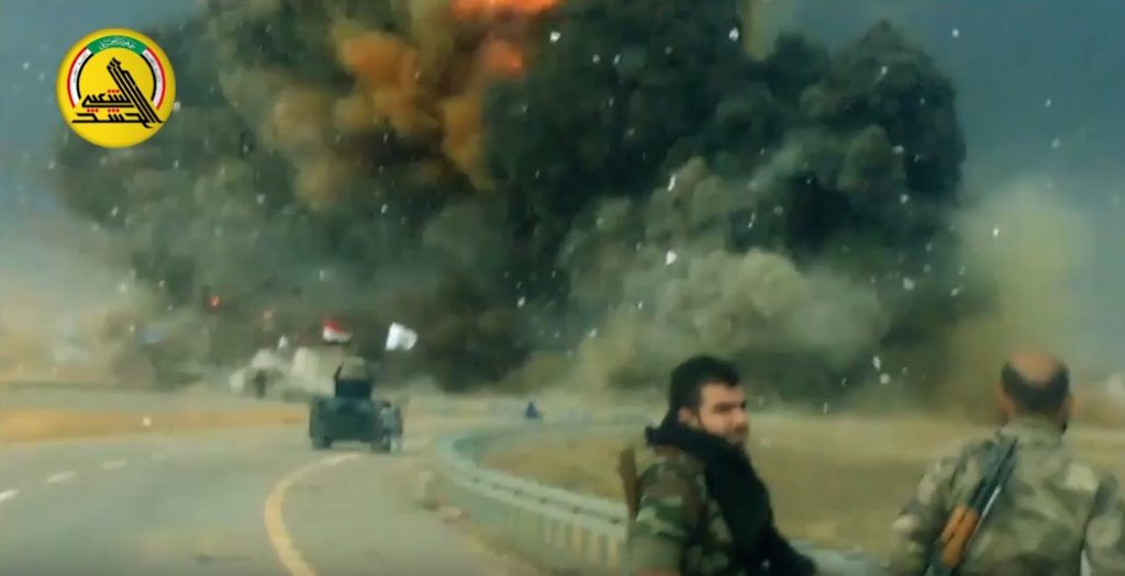 Video: Iraqi Popluar Mobilization Units Against ISIS Suicide Bombers