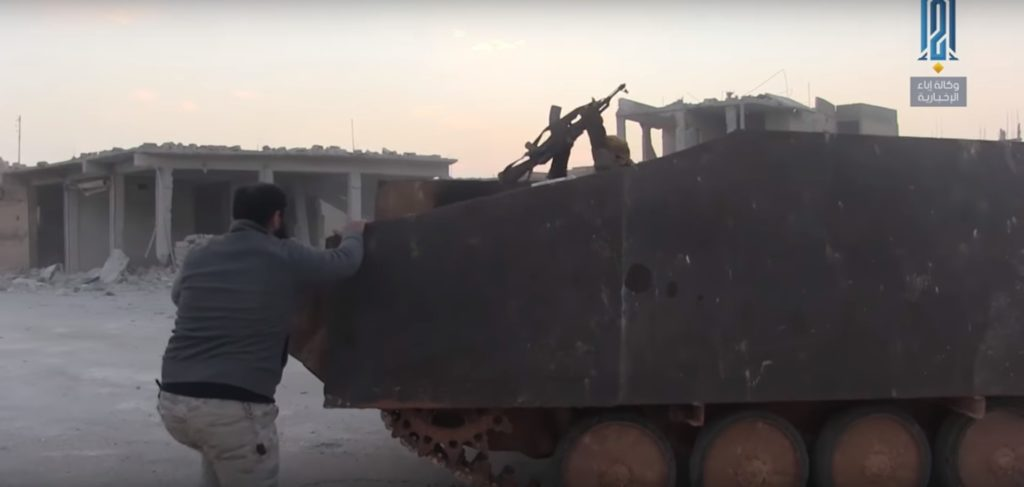 Hayat Tahrir al-Sham's SVBIED Made Up From BMP-1 Armoured Vehicle During Abu al-Duhur Counter-Attack (Photos, Videos)