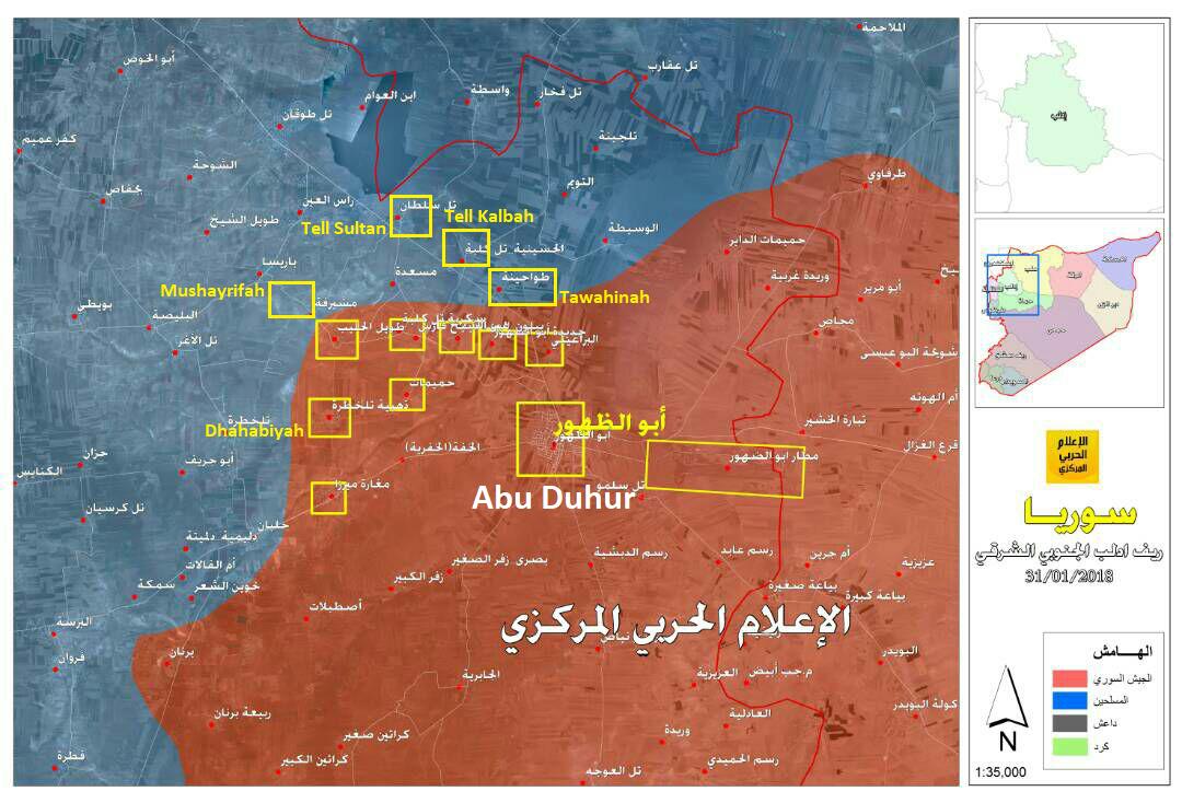 Syrian Army Captures Over Dozen Villages, Advances Towards Saraqib In Southeastern Idlib (Map, Video)