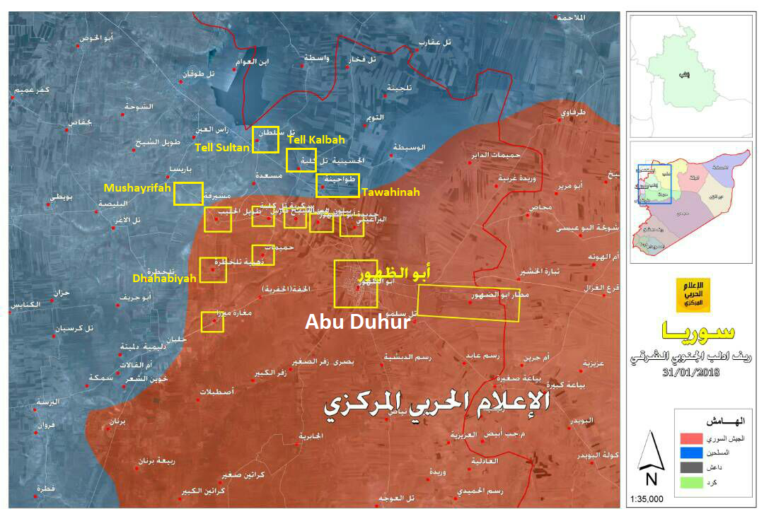 Syrian Army Captures Over Dozen Villages, Advances Towards Saraqib In Southeastern Idlib (Map, Video)