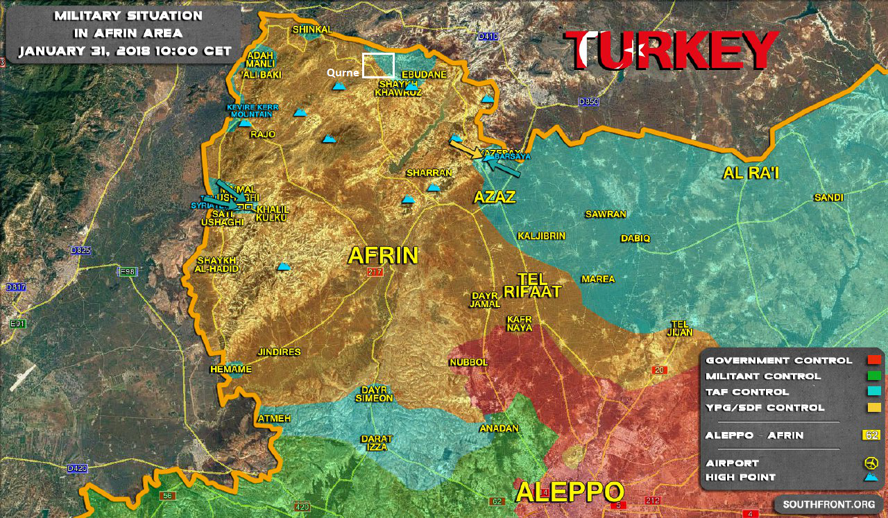 Turkish Army Captures Strategic Height North Of Afrin (Videos, Map)