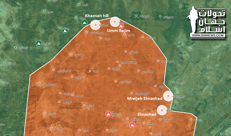 Hay'at Tahrir al-Sham Fighters Flee Their Positions In Southern Idlib (Map)