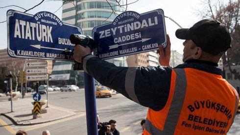 Olive Branch Street - Turkey Renames Road Where US Embassy Located In Ankara