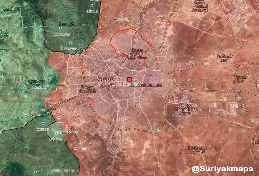 Government Forces Got Control Over All Neighborhoods Of Aleppo City Which Had Been Controlled By YPG