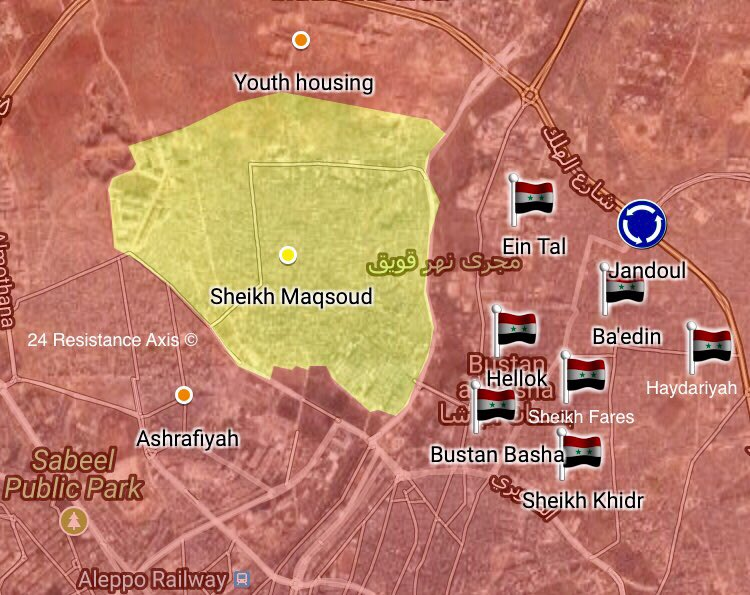 Map Udpate: Military Situation In Aleppo City