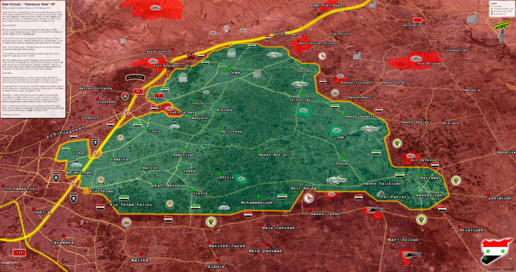 Eastern Ghouta: Brief Look At Upcoming Operation Damascus Steel