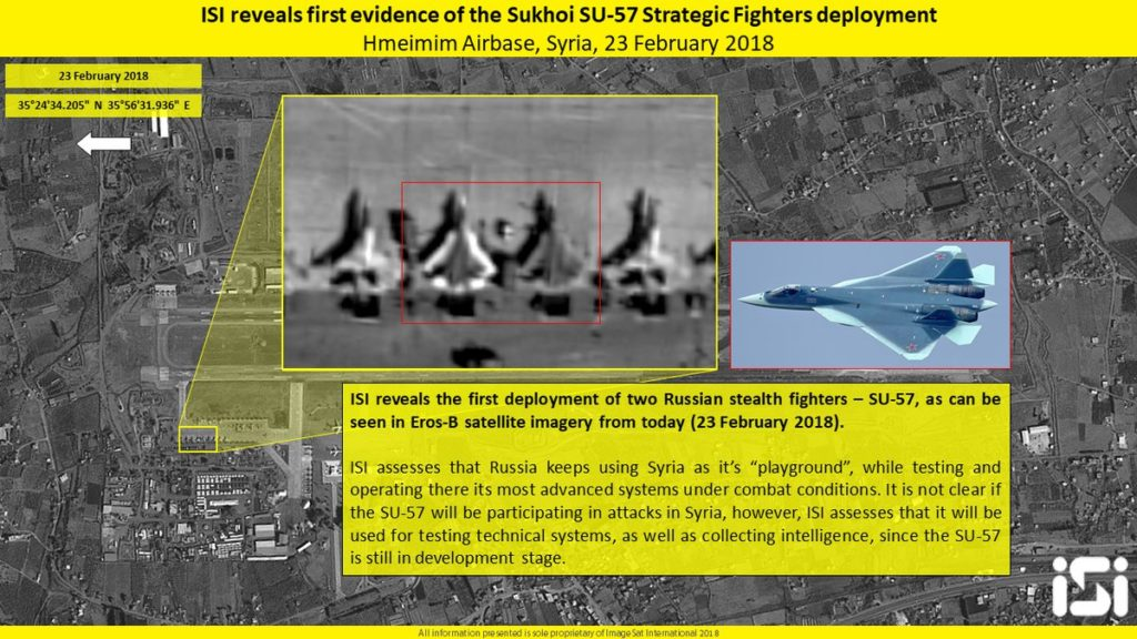 Satellite Images: Su-57 Stealth Fighter Jets Deployed At Russian Airbase In Syria