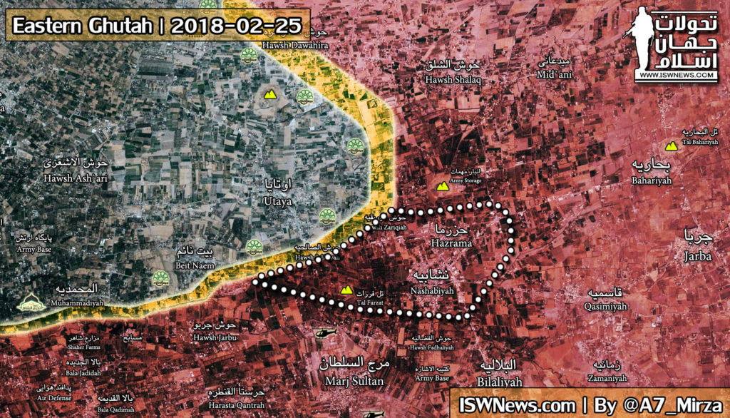 Syrian Army Starts Ground Operation In Eastern Ghouta, Captures Four Locations (Map)