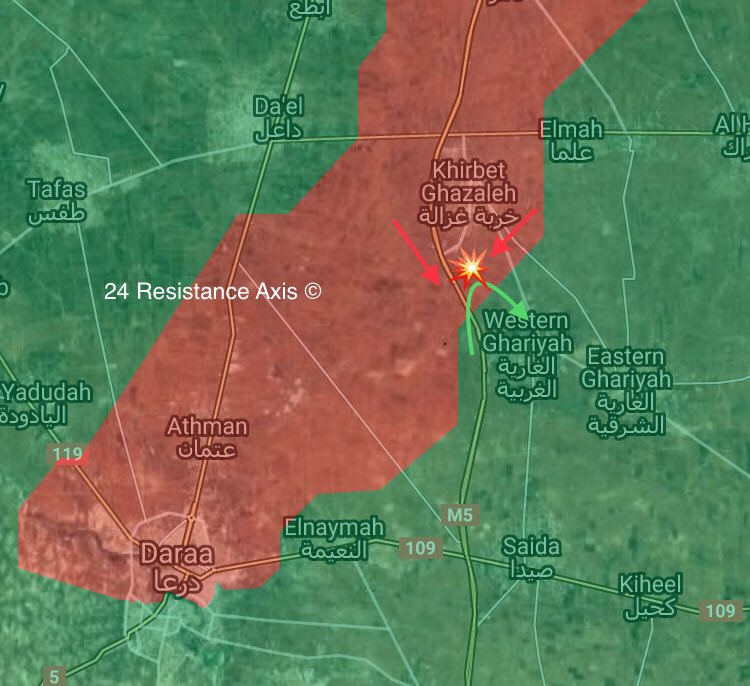 Government Forces Repelled Militant Attack On Kherbet Ghazalah In Southern Syria