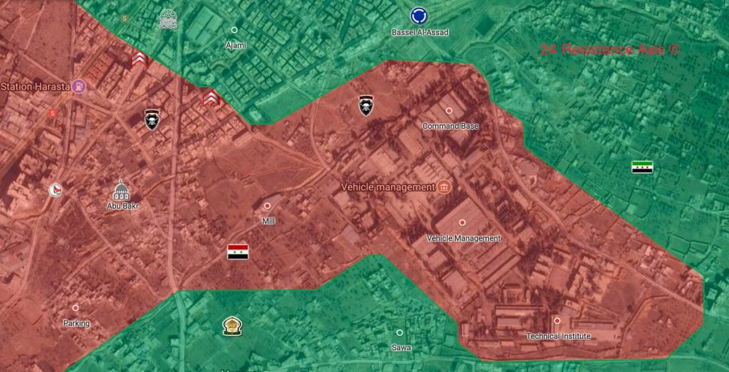 Syrian Government Forces Open Front Against Militants In Harasta Area In Eastern Ghouta (Map)
