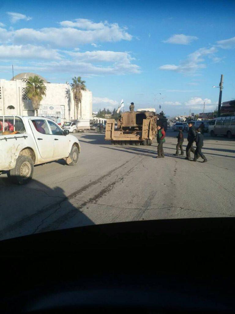 Hayat Tahrir al-Sham Military Equipment Leaving Idlib City For Clashes Against SLF Across Province (Photos)