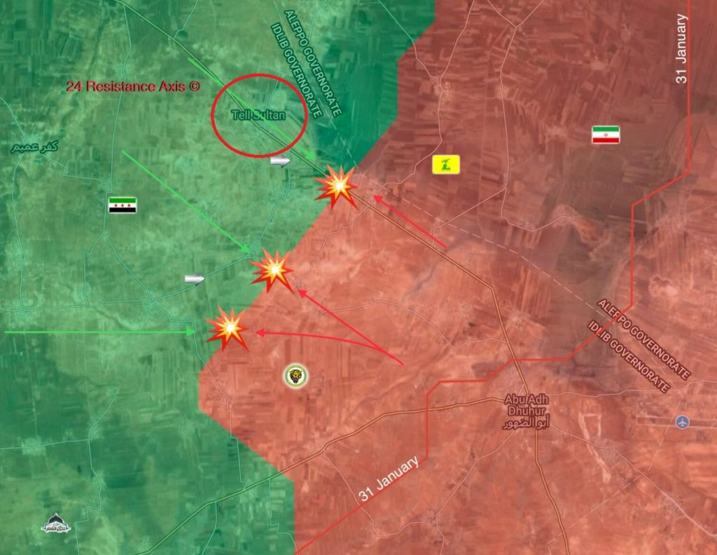 Government Forces Engange Militants In Eastern Idlib, Aim To Restore Control Over Tell Sultan - Reports