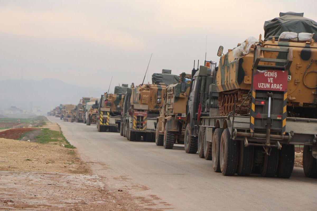 Two Convoys Of Turkish Battle Tanks, Armoured Vehicles Enter Syria's Idlib
