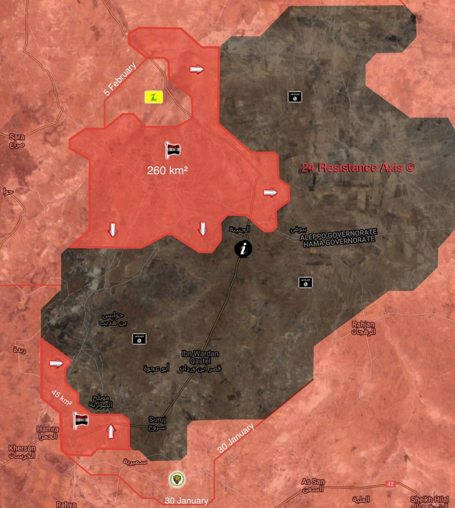 Syrian Army Liberated Over 300km2 From ISIS In Northeastern Hama Since January (Map)