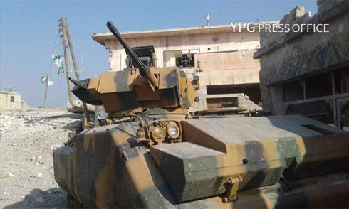 Kurdish Forces Destroy Turkish Armoured Vehicle, Capture another One In Shaykh Khurus - YPG
