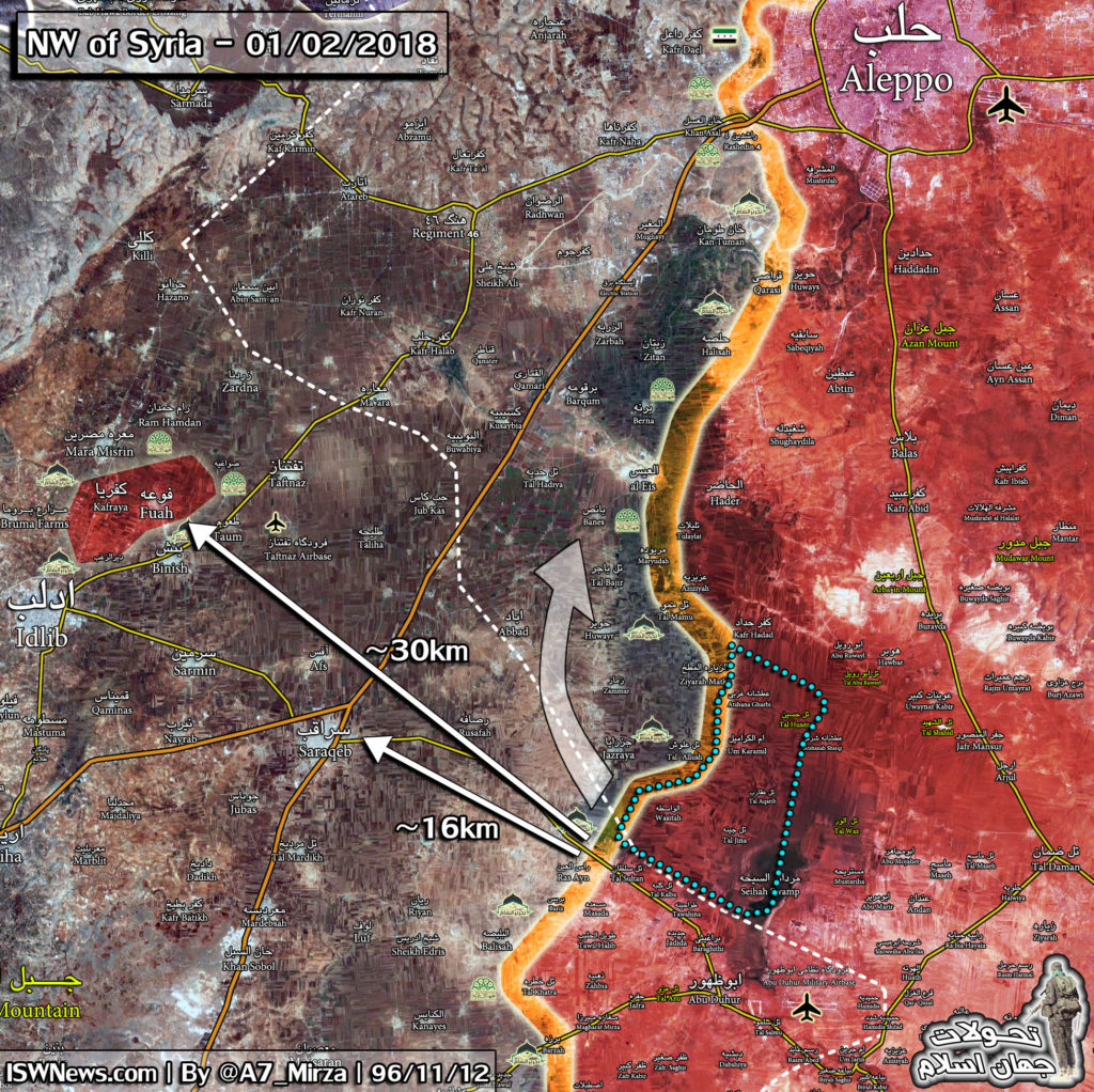 Map Update: Military Situation In Eastern Idlib And Southern Aleppo